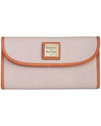 Dooney & Bourke - Pebble Leather Continental Clutch - Lyst