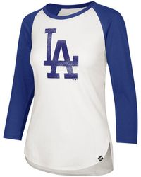 4f6098f1c6f 47 Brand - Los Angeles Dodgers Imprint Splitter Raglan T-shirt - Lyst
