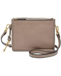 Fossil - Campbell Mini Leather Crossbody - Lyst