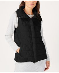 Eileen Fisher - Recycled Nylon Blend Quilted Vest - Lyst