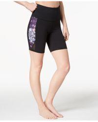 Gaiam - Om Lena Print High-rise Yoga Shorts - Lyst