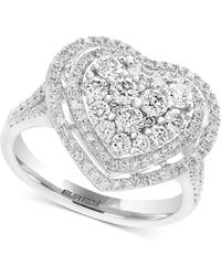 Effy Collection - Diamond Heart Ring (1-1/8 Ct. T.w.) In 14k White Gold - Lyst