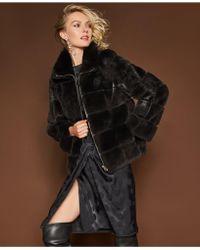 The Fur Vault - Rabbit Fur Jacket - Lyst