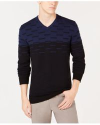 Alfani - Colorblocked Dash Sweater, Created For Macy's - Lyst