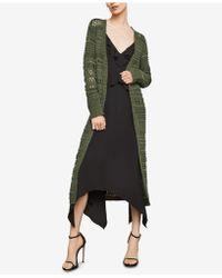 BCBGMAXAZRIA - Open-stitch Striped Long Cardigan - Lyst