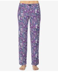 Ellen Tracy - Printed Pajama Pants - Lyst