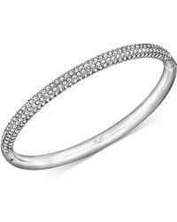 Swarovski - Stainless Steel Crystal Bangle Bracelet - Lyst