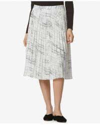 Avec Les Filles - Pleated Printed Midi Skirt - Lyst