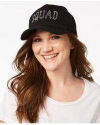 Betsey Johnson - Squad Cotton Baseball Cap - Lyst