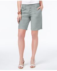 Style & Co. - Petite Zip-detail Shorts, Created For Macy's - Lyst