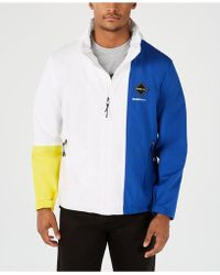a7edbe272 adidas Sport Id Colorblocked Hooded Jacket in Blue for Men - Lyst