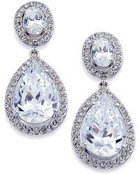 Danori - Silver-tone Crystal Teardrop Drop Earrings - Lyst