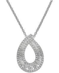 Arabella - Swarovski Zirconia Pendant Necklace In Sterling Silver (1-1/4 Ct. T.w.) - Lyst