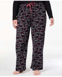 Hue - Plus Size Inspirational-script Printed Pyjama Trousers - Lyst