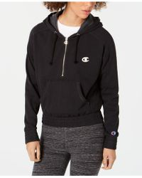 Champion - Vintage-dyed Fleece Half-zip Hoodie - Lyst