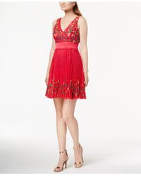 French Connection - Amity Embroidered Lace Dress - Lyst