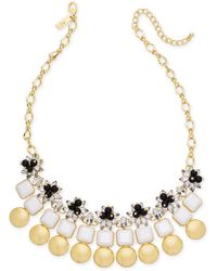 """INC International Concepts - I.n.c. Gold-tone Multi-stone & Circle Statement Necklace, 18"""" + 3"""" Extender, Created For Macy's - Lyst"""
