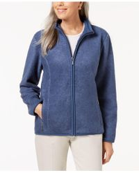 Karen Scott Zip-up Zeroproof Fleece Jacket, Created For Macy's - Blue