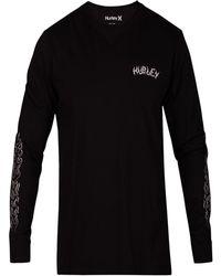 Hurley - Graphic Print Long-sleeve T-shirt - Lyst