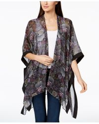 Steve Madden - Floral-print Cape - Lyst