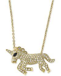 "Effy Collection - Effy® Diamond Unicorn 18"" Pendant Necklace (1/2 Ct. T.w.) In 14k Gold - Lyst"