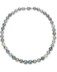 Macy's - Multicolor Cultured Tahitian Pearl (9mm) Strand Necklace - Lyst