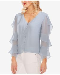 Vince Camuto - Tiered-sleeve Blouse - Lyst
