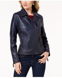 Charter Club - Leather Jacket, Created For Macy's - Lyst