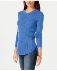Charter Club - Shaped Cable Sweater, Created For Macy's - Lyst