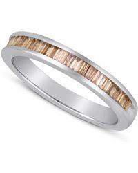 Macy's - Baguette-cut Champagne Diamond Ring In Sterling Silver (1 Ct. T.w.) - Lyst