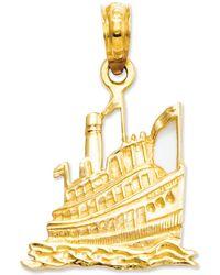 Macy's - 14k Gold Charm, Cruise Ship Charm - Lyst