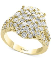 Effy Collection Diamond Cluster Statement Ring (2-1/10 Ct. T.w.) In 14k Gold - Metallic