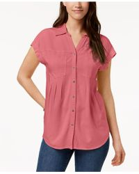 Style & Co. - Petite Pleated Blouse, Created For Macy's - Lyst