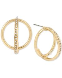 BCBGeneration - Bcbg Pavé Orbital Hoop Earrings - Lyst