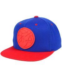 Mitchell & Ness - Philadelphia 76ers Rubber Weld Snapback Cap - Lyst