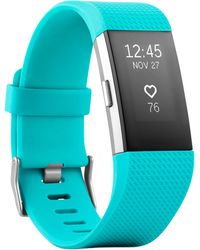 Fitbit - Unisex Charge 2 Elastomer Heart Rate & Fitness Wristband Fb407sbks - Lyst