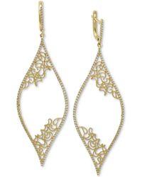 Effy Collection - Effy® Diamond Micro-pavé Filigree Drop Earrings (3/4 Ct. T.w.) In 14k Gold - Lyst