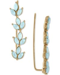 RACHEL Rachel Roy - Gold-tone Colored Stone Leaf Climber Earrings - Lyst
