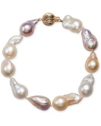 Macy's - Multicolor Cultured Baroque Freshwater Pearl (9-11mm) Bracelet - Lyst
