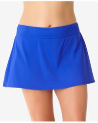 Anne Cole - Plus Size Solid Swim Skirt - Lyst