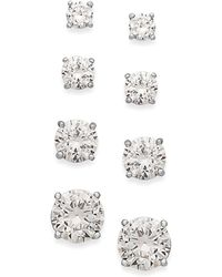 Giani Bernini - Cubic Zirconia Stud Set In 18k Gold Over Sterling Silver - Lyst