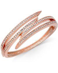 Charter Club | Rose Gold-tone Pavé Bypass Bangle Bracelet | Lyst