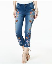 INC International Concepts - I.n.c. Embroidered Cropped Jeans, Created For Macy's - Lyst