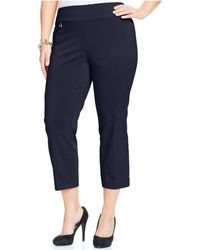 Alfani - Plus Size Pull-on Capri Pants - Lyst