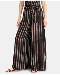 RACHEL Rachel Roy - Naida Striped Wide-leg Wrap Pants - Lyst