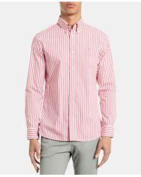 Calvin Klein - Striped Stretch Cotton Shirt - Lyst