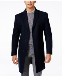 Kenneth Cole Reaction - Raburn Wool-Blend Slim-Fit Over Coat  - Lyst