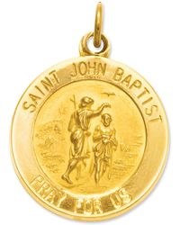 Macy's - 14k Gold Charm, Saint John Baptist Medal Charm - Lyst