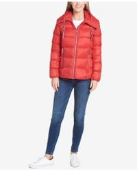 Tommy Hilfiger - Hooded Packable Down Coat - Lyst