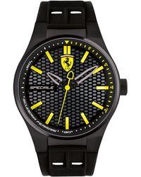 Ferrari - Men's Speciale 3h Black Silicone Strap Watch 44mm 0830354 - Lyst